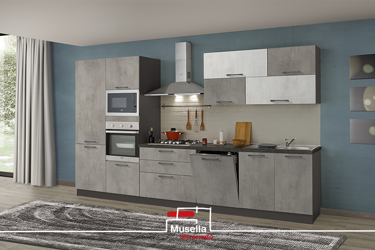 Cucina Oltrarredo Kitchens di 360 cm con 5 Elettrodomestici