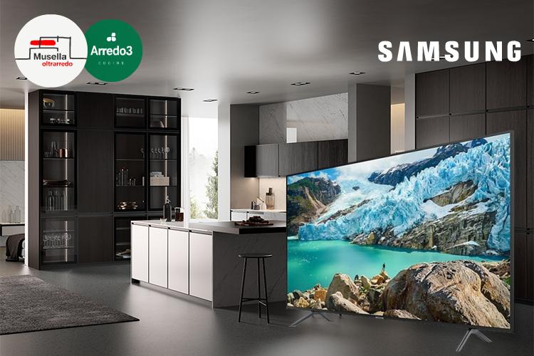 Musella Oltrarredo Arredo3 Samsung Promo TV Samsung 55″ in omaggio